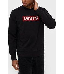 levis graphic crew b logo ssnl crew tröjor svart