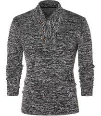 shawl collar space collar pullover sweater