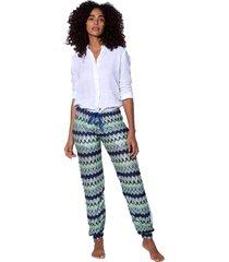 multicolor bluette chevron knitted pants