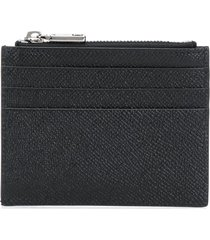 dolce & gabbana leather multi-pocket wallet - black