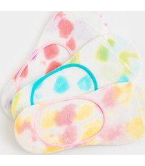 zoe tie-dye no show socks 3-pack - multi