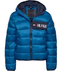 essential padded jacket gevoerd jack blauw tommy hilfiger