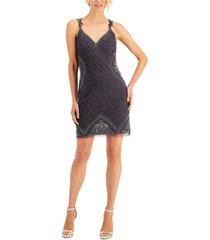 j kara embellished cross-back dress