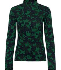 d1. splendid jaquard turtleneck ls t-shirts & tops long-sleeved groen gant