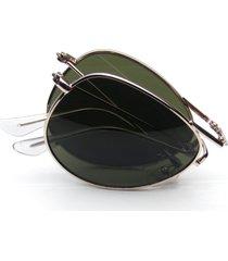 folding pocket metal aviator sunglasses