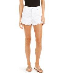 inc frayed-hem denim shorts, created for macy's