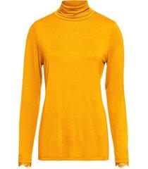maglia a collo alto con pizzo (giallo) - bodyflirt