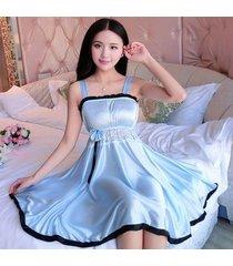 sleepwear women silk nightwear nightgowns lace sexy lingerie plus size xl female