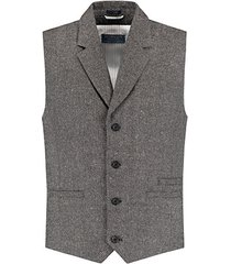 dstrezzed gilet in tweed stijl zwart