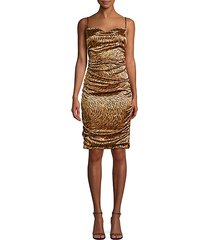 alessia zebra draped dress