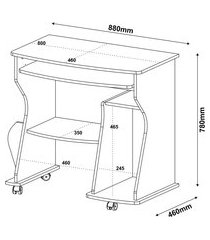 mesa para computador mdf e mdp 160 branco 003092 artely