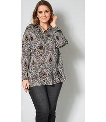 blouse janet & joyce taupe::zwart::crème