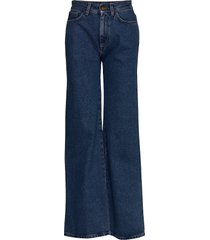 rodebjer hall jeans wijde pijpen blauw rodebjer