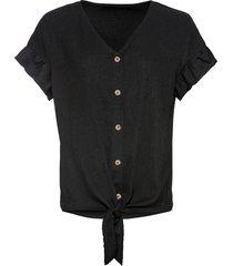 maglia con nodo (nero) - bodyflirt