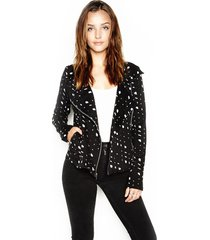 bryson motorcycle jacket - m black speckle