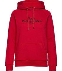 w original hood cold blush hoodie trui rood peak performance