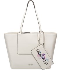 cartera nine west liana tote - blanco
