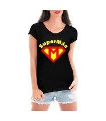 camiseta criativa urbana feminina tshirt super mãe dia das mães heroína