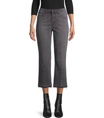 l'agence women's cropped flared jeans - green - size 31 (10)