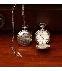 mullingar pewter trinity knot pocket watch