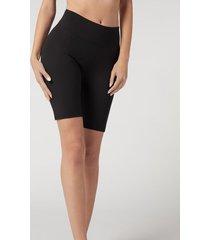 calzedonia active legging shorts woman black size l