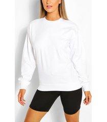 recycled oversized sweatshirt, white