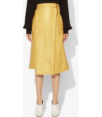 proenza schouler leather wrap skirt sand/yellow 0
