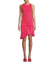 lucia striped flounce hem dress