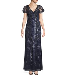 embellished v-neck gown