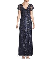 embellished v-neck gown