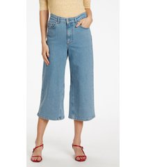 soaked in luxury 30404705 slleela denim culottes