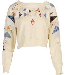 butter patchwork sweatshirt