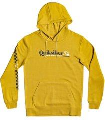 men's check you self screen fleece sweatshirt