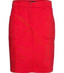 casual skirt knälång kjol röd brandtex