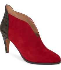 women's linea paolo nia bootie, size 5 m - red