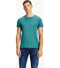tommy hilfiger men's slim fit organic cotton t-shirt sea steel - s
