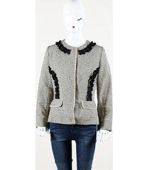 fendi ruffle cotton jacket
