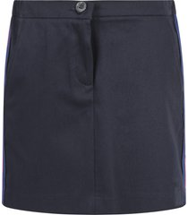 gucci blue skirt for girl with side stripes