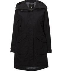 agnes wns coat 2 parka lange jas jas zwart didriksons