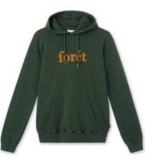 foret forét maple hoodie f170 dark green