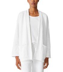 eileen fisher organic cotton open-front jacket, regular & petite