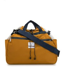 as2ov twill drawstring shoulder bag - yellow