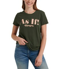 lucky brand as if graphic cotton t-shirt