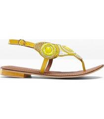 sandali infradito in pelle (giallo) - bodyflirt