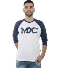 camiseta mxc brasil manga 3/4 - masculino