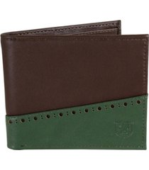 stacy adams bifold wallet with two-tone color