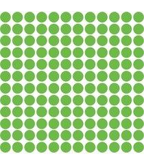 adesivo de parede bolinhas verde claro 144un - verde - dafiti
