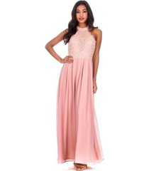 ax paris lace choker neck maxi dress