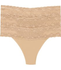 natori bliss 3-pk. perfection lace-trim thong 750092mp