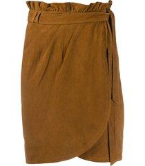 ba & sh suede skirt - brown